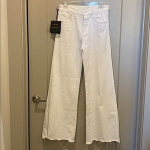 NWT Mother Denim Tomcat Roller Chew white jeans